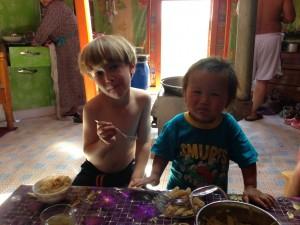 Emilio and his friend