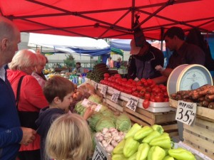 Shopping at farmers' markets are so much more fun - and I suspect the enzyme supply is richer in the fruits and veggies
